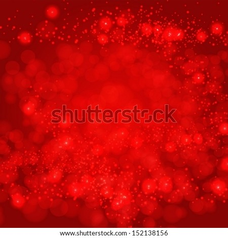 Red Background With Bokeh And Blur. Vector EPS 10 illustration. - stock vector