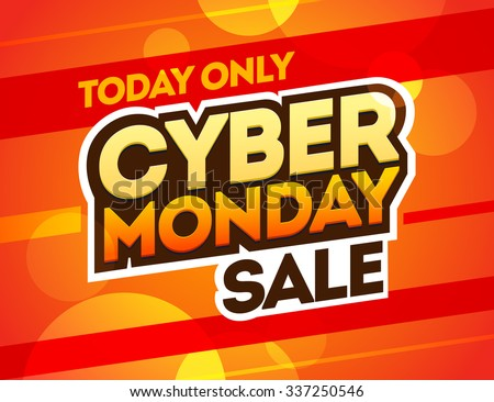 Red background with text for cyber monday. Vector illustrations. Cyber Monday banner design - stock vector
