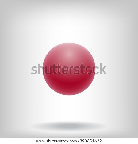 Red ball - stock vector