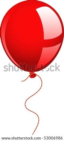 Red balloon - stock vector