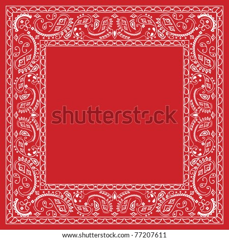 Red bandana design - stock vector