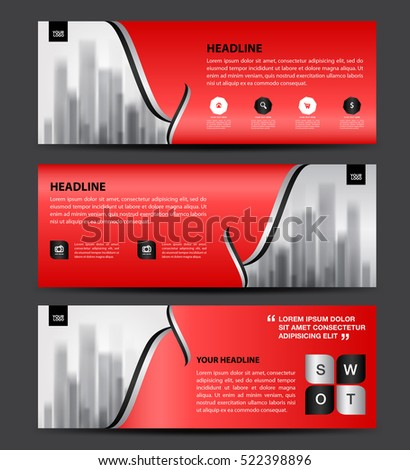 horizontal brochure design - flyer stand stock images royalty free images vectors