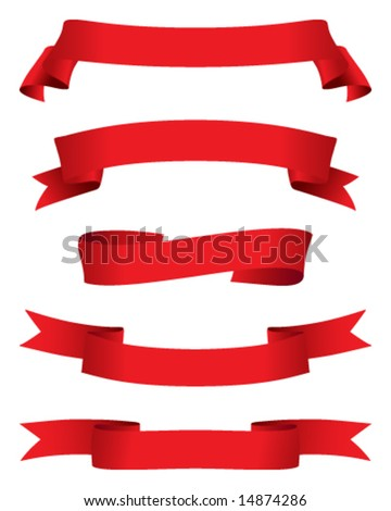 red banners - stock vector