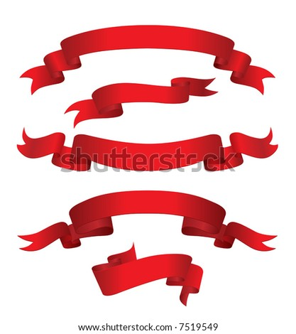 Red Banners (vector). In the gallery also available XXL jpeg image made from this vector - stock vector
