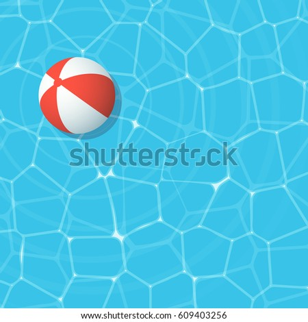 Swimming Pool Beach Ball Background vector summer background ball floating on stock vector 399681238