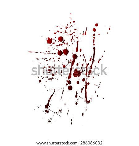 Red-black blots on a white background, illustration clip-art