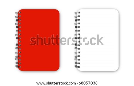 Red Blank Note Book Vector