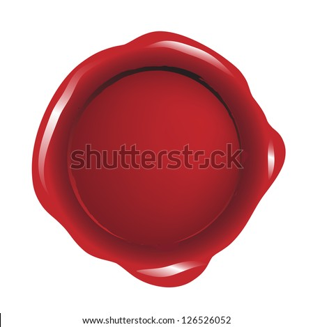 Red blank seal wax vector
