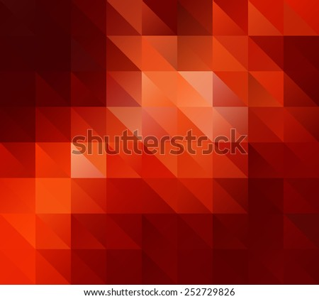 Red Block  Seamless Mosaic Background, Vector illustration,  Creative  Business Design Templates - stock vector