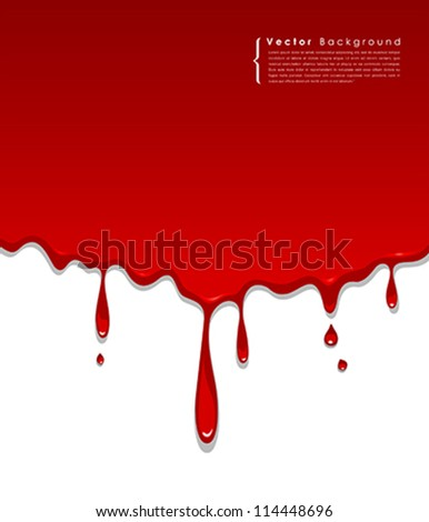 Red blood background, vector illustration - stock vector