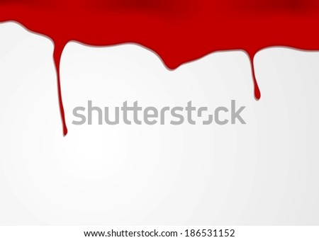 Red blood vector background - stock vector