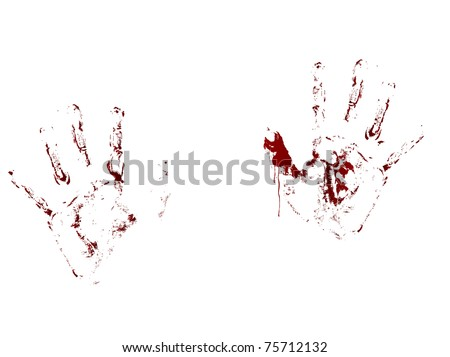 bloody handprint stock images royaltyfree images