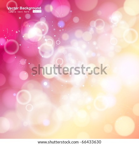 red bokeh abstract light background. Vector illustration - stock vector