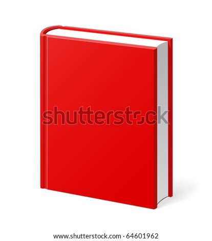 Red book isolated hi quality illustration - stock vector