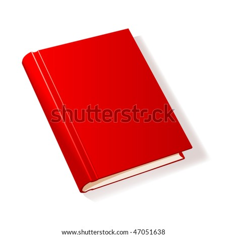 Red book. Vector illustration. - stock vector