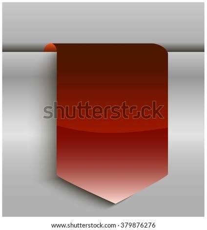 Red bookmarks isolated on metal background