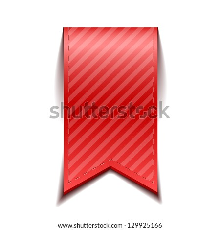 Red bookmarks isolated on white background - stock vector