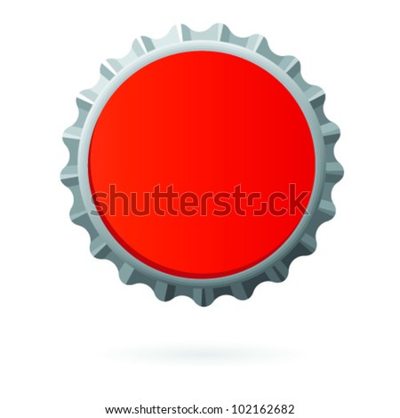 Red bottle cap blank isolated