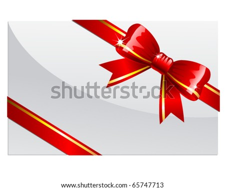 Red bow - stock vector