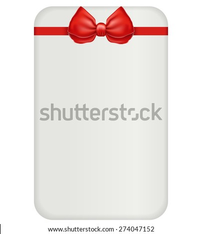 red bow and ribbon - stock vector