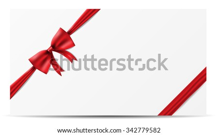 red bow ribbon vector paper