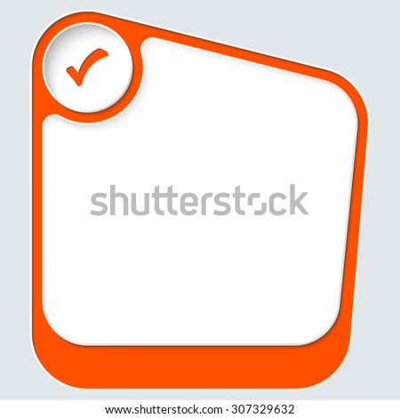 Red box for your text with white frame and check box - stock vector