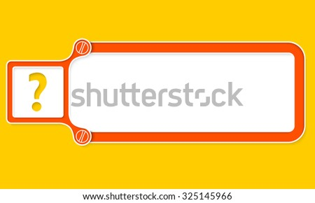 Red box with white frame for your text and question mark - stock vector