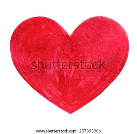 Red bright heart. Symbol of Valentine's Day. Vector illustration - stock vector