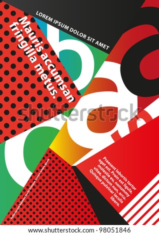 Red Brochure design - stock vector