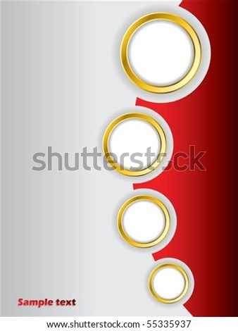 Red brochure design background template - stock vector