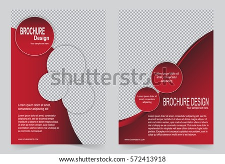 Red Brochure Template Flyer Design Abstract Stock Vector 572413918 ...
