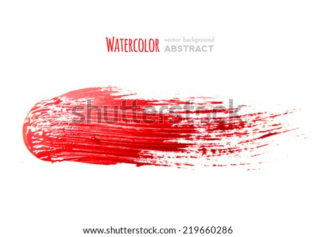 red brush strokes -  backdrop for your text. vector - stock vector