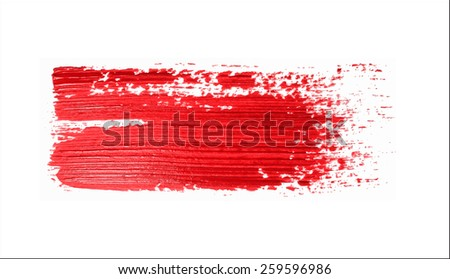 red brush strokes -  backdrop for your text. vector
