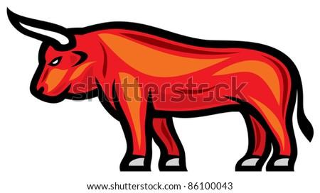 red bull - stock vector