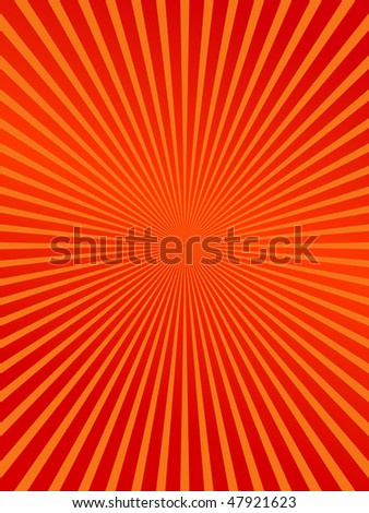 red burst abstract background - stock vector