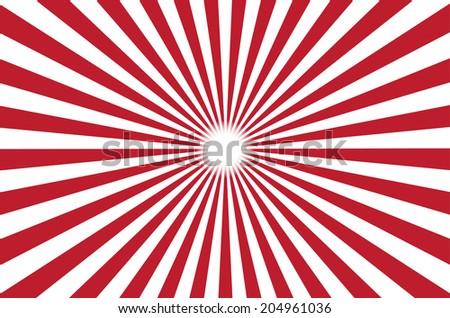 red burst background. Vector illustration - stock vector