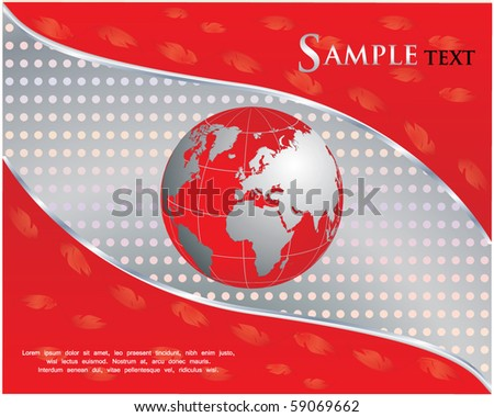 red business background - stock vector