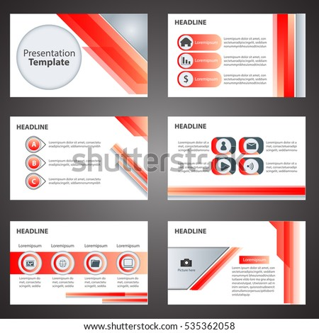Red Business Presentation Template Infographic Elements Stock Vector