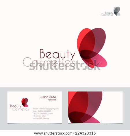 Red butterfly vector sign business card stock vector royalty free red butterfly vector sign business card template vector icon for beauty industry salon cheaphphosting Image collections