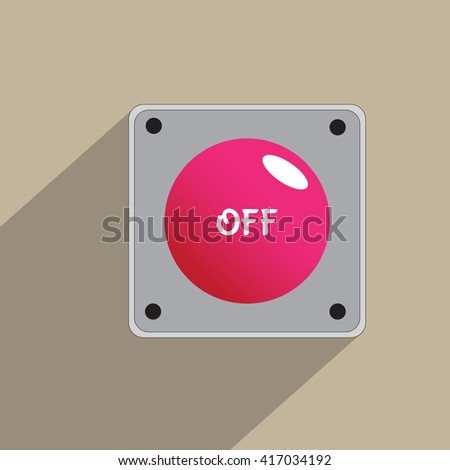 Red button Off Icon