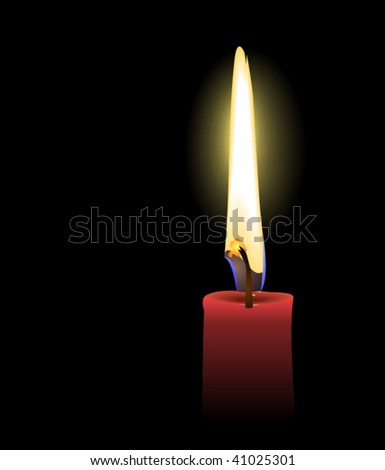red candle - vector