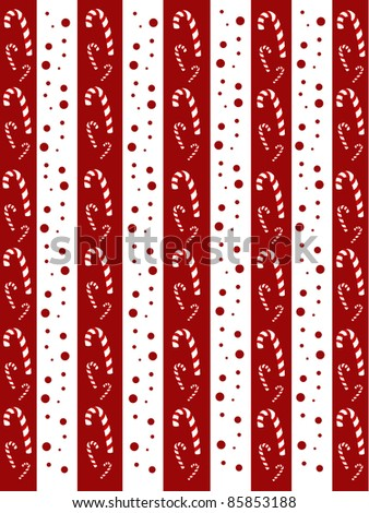 red candy christmas seamless vector - stock vector