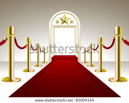 Red Carpet Entrance - stock vector