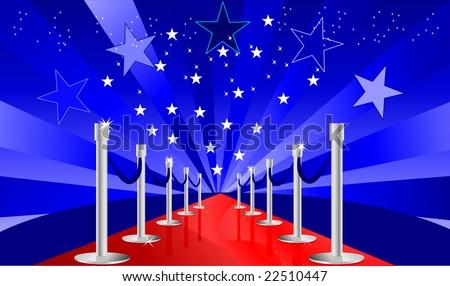 red carpet treatment vector - stock vector