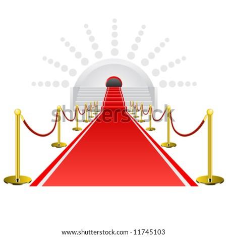 red carpet vector - stock vector