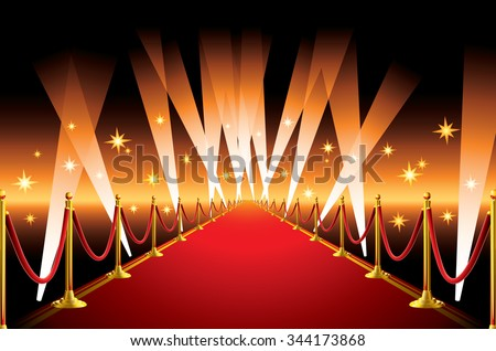 Red Carpet Spotlight Stock Vector 344173868 Shutterstock