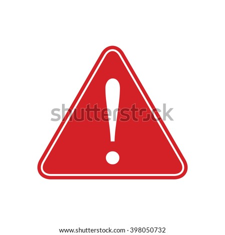 Red caution Sign Vector - stock vector