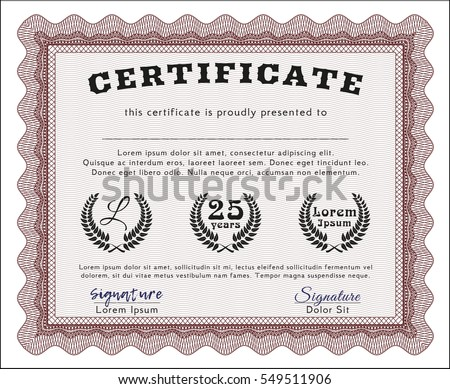 Red Certificate Border Stock Images, Royalty-Free Images & Vectors