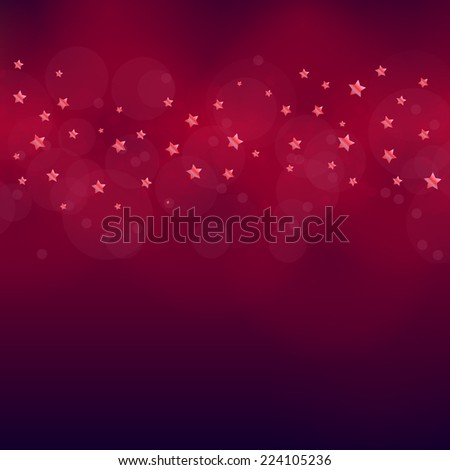 red Christas vector eps10 design in red / Christmas card / beautiful red background with stars  - stock vector