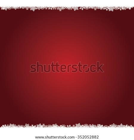 Red Christmas backdrop with snowflakes. EPS image. - stock vector